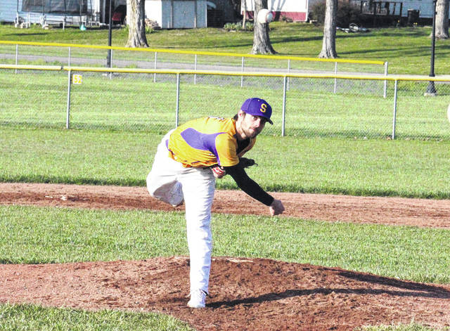 Southern senior Dylan Smith tosses a pitch during his no-hitter against Federal Hocking on Tuesday in Racine, Ohio.