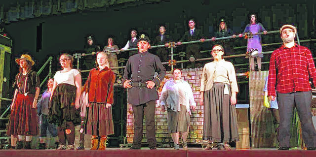 Numerous Meigs High School students took part in the annual school play last weekend.