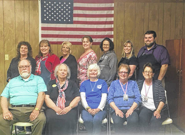 Members of Racine Chapter #134 Order of the Eastern Star on who participated in the Honor Flight dinner fundraiser. Front Row (L-R) David Fox, Ruth Ann Fox, JoAnne Newsome, Honor Flight guardian, Charlotte Wamsley, and Kay Hill, Back Row, Terri McLaughlin, Denise Bunce, Linda Diddle, Mary Byer-Hill, Penny Elam, Monica Turner, and Jordan Pickens. Not pictured include, Jim Freeman, Charlie Wilson, Ginette Spence, Eddie Wilson, and Becky Dudding.