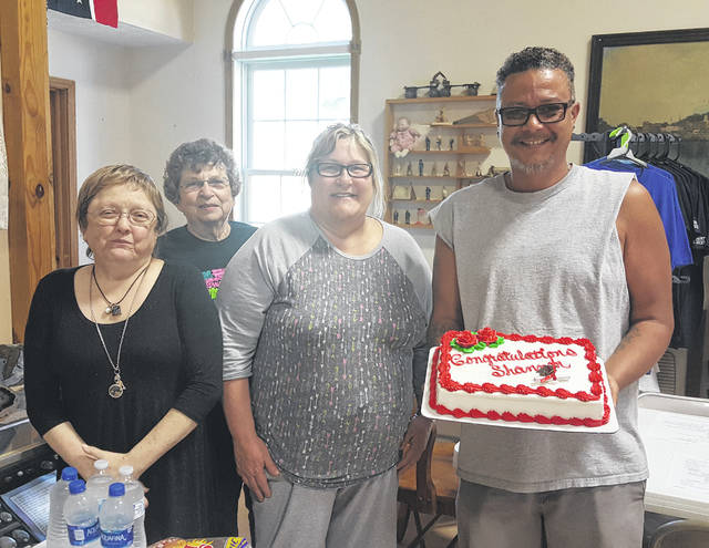 Prior to their meeting on Thursday evening, the Meigs County Historical Society recognized Board of Trustees President Shannon Scott for his recent graduation from the University of Rio Grande.