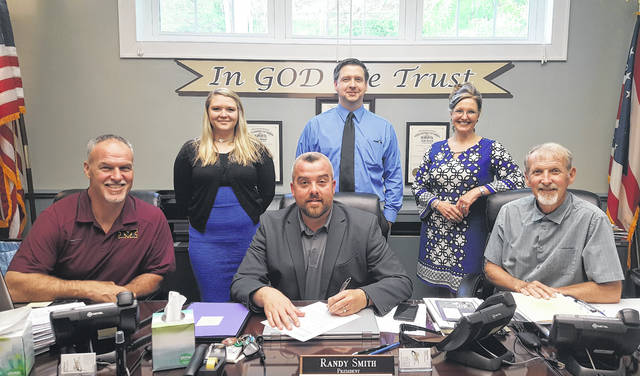 The Meigs County Commissioner recognized May 13-19 as Police Week with a proclamation during last week's meeting. Pictured are commissioners Mike Bartrum, Randy Smith and Tim Ihle, Victim Advocate Alexis Schwab, Prosecutor James K. Stanley and Clerk/Grants Administrator Betsy Entsminger. The Prosecutor's Office will host an appreciation breakfast on May 19 for local law enforcement.