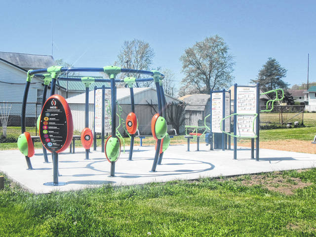 Fitness equipment is now located next to the future home of the Meigs County Council on Aging.