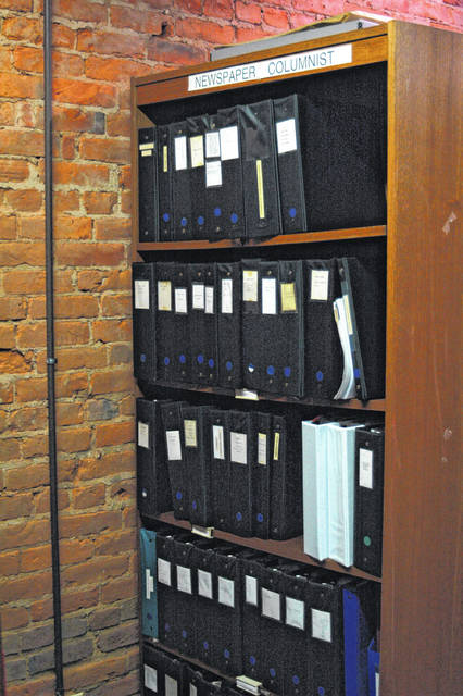 The Gallia County Historical Society also has kept running collections of columnists from the Daily Tribune, something Sands did for three decades or more. With his complete works now at the society, this will be expanded.