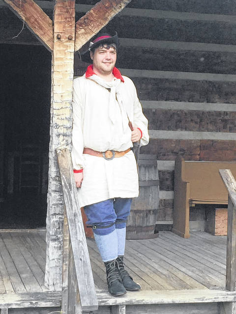 Zach Mason is the docent this year for Fort Randolph and will be giving tours of the buildings and sharing the history of the fort to visitors.
