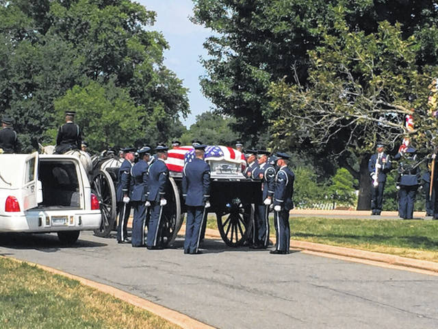 World War II veteran James Bailey was laid to rest on Friday at Arlington National Cemetery.