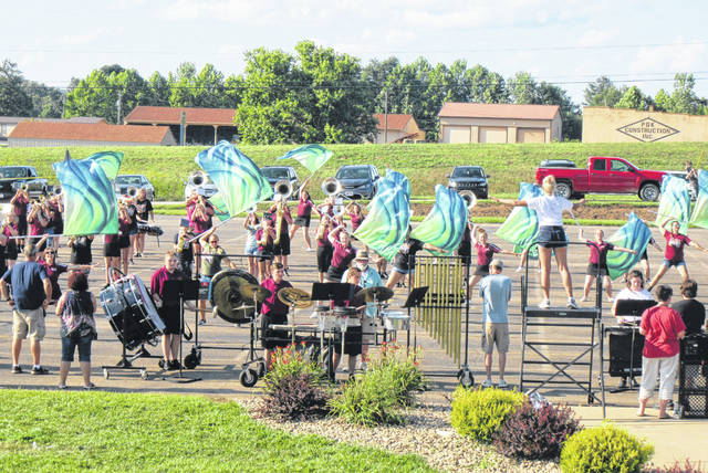 """With football season just a few weeks away, it is time for the local high school marching bands to prepare for their turn under the Friday night lights as well. The Meigs Marauder Marching Band spent last week at band camp, preparing their halftime and competition performance for the upcoming season. On Friday evening, the band presented a preview of their show """"If Only"""" for family, friends and community members. The show includes music from The Wizard of Oz. Long-time Band Director Toney Dingess thanked those who had helped out with the week's activities, including assistants, boosters and school administration."""