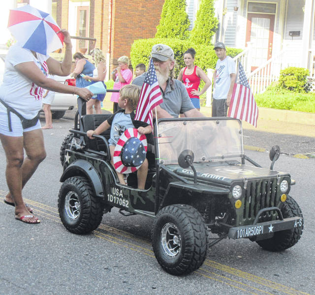Parade participants made their way through town on all types of vehicles.