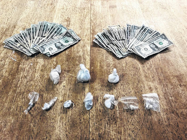 Money and suspected drugs were located on Saturday be Meigs County Sheriff's Deputies.