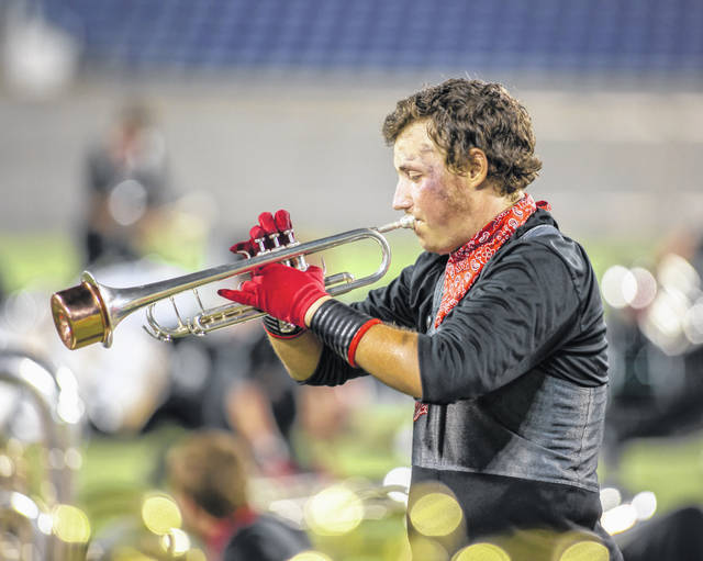 Noah Anderson, of Meigs High School, performs with Music City Drum Corps International.