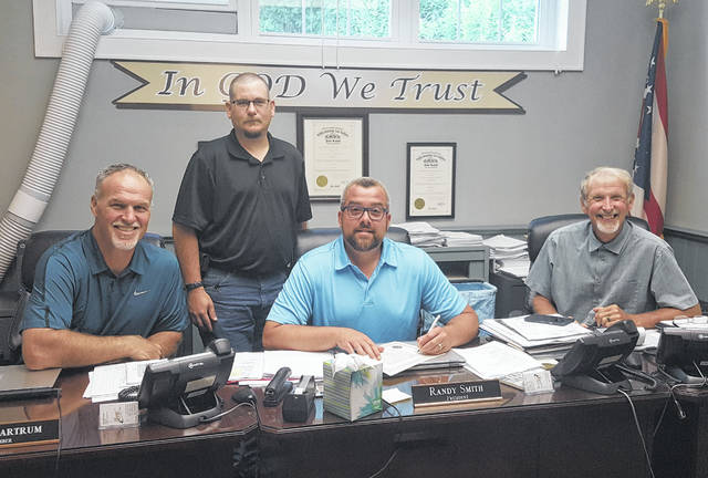 Brent Rose, representing the Meigs County Fair, is pictured with the Meigs County Commissioners during Thursday's meeting in which the commissioners recognized the 155th year of the Meigs County Fair.