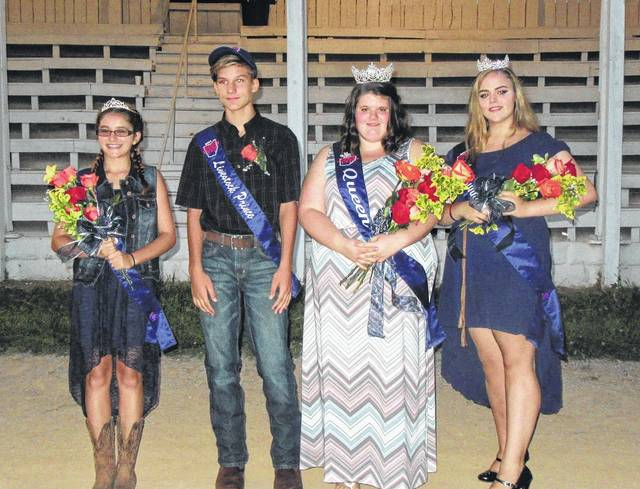 The 2017 Meigs County Fair Royalty were Livestock Princess Rachel Jackson, Livestock Prince Cooper Schagel, Queen Michaela Holter, First Runner Up Katelin Ferguson. The 2018 royalty will be crowned on Sunday evening.