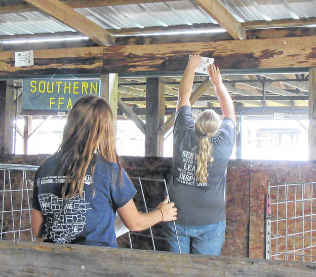 Junior Fair Board members spent time last week working at the Meigs County Fairgrounds to prepare for the 155th Meigs County Fair.