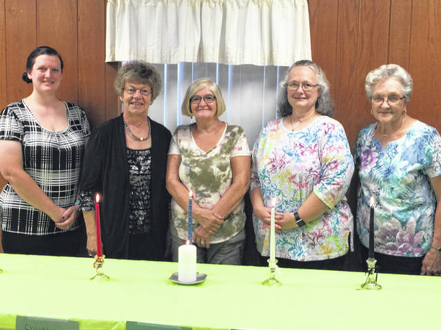 New TOPS officers are (left to right) MaryBeth Morrison, Cindy Hyde, Pat Snedden, Mary Bush and Roberta Henderson.