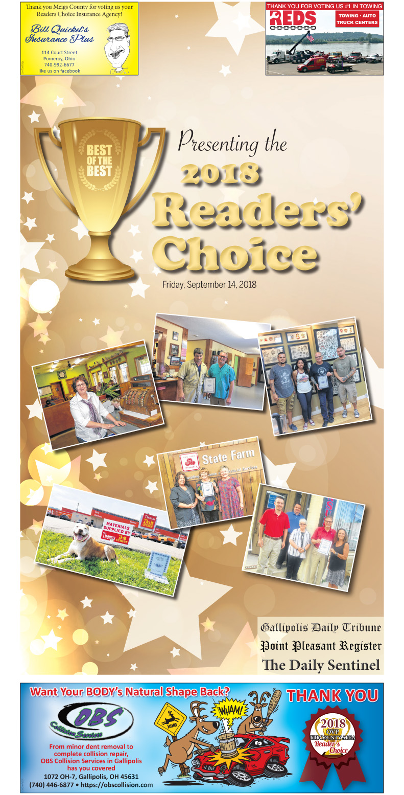 2018 Reader's Choice