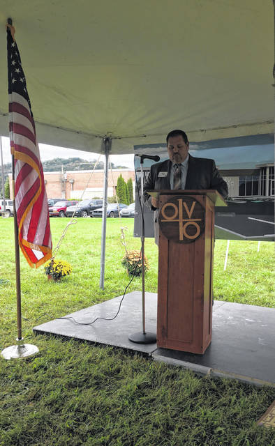 Dan Short was the Master of Ceremonies for the OVB bend area office ground breaking ceremony.