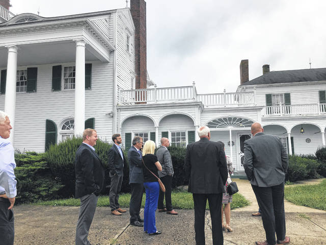 Earlier in the month, Lance Thornton gave a tour of the Morgan Mount Vernon Mansion.