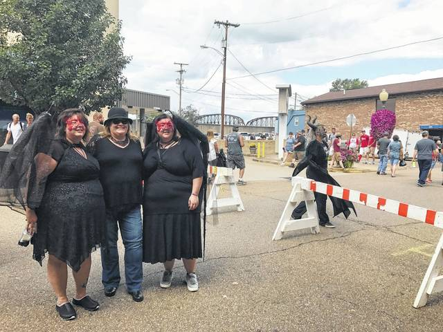 Costumes and individuality are encouraged at the Mothman Festival.