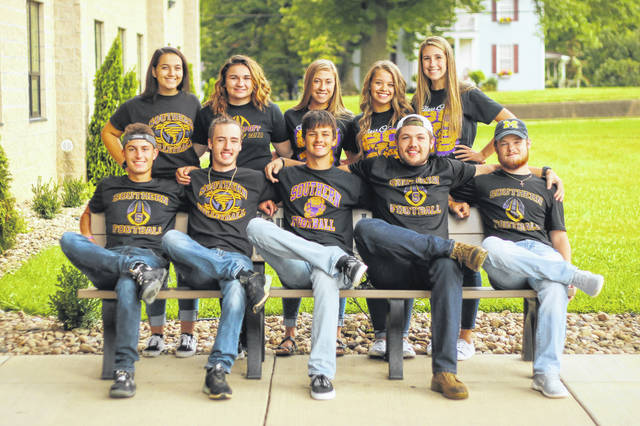 Southern High School will crown its Homecoming King and Queen before the football game on Friday, Sept. 28. King candidates (front, from left) are Logan Drummer, Noah Diddle, Weston Thorla, Austin Arnold, and Reece Reuter. Queen candidates (back, from left) are Tori Chaney, Kayla Boyer, Madison Lisle, Peyton Anderson, and Marissa Brooker.