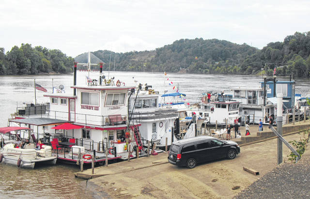 Sternwheelers and smaller boats lined the Pomeroy riverfront on Saturday as part of the annual Pomeroy Sternwheel Regatta.
