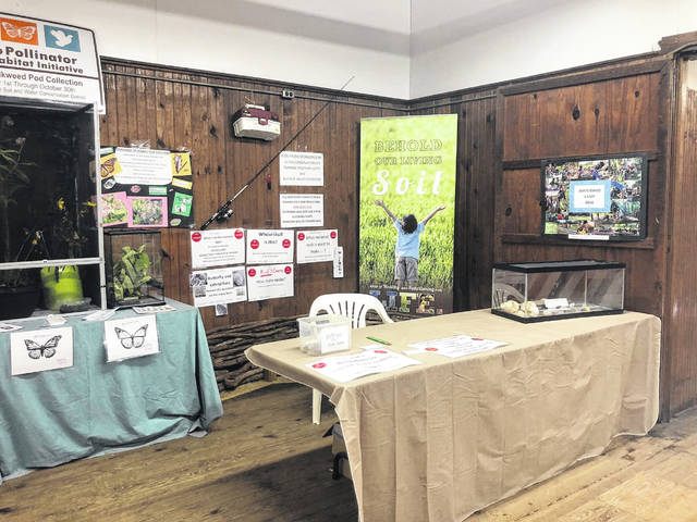 The Meigs County Soil and Water Conservation District display at the fair.