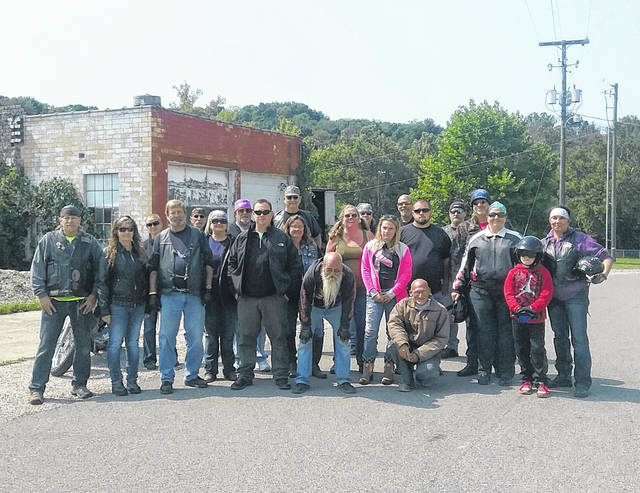 Pictured are a group of participants in the 2017 Ann Morris Cancer Awareness Poker Run.