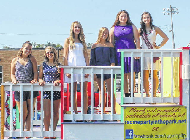 The 2018 Party in the Park Queen candidates are Tori Chaney, Peyton Anderson, Marissa Brooker, Madison Lisle and Kayla Boyer. Also pictured is the 2017 Queen Nikita Wood.