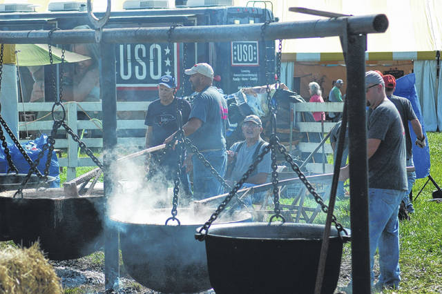 A regular favorite of the festival is kettle beans, cooked on site.