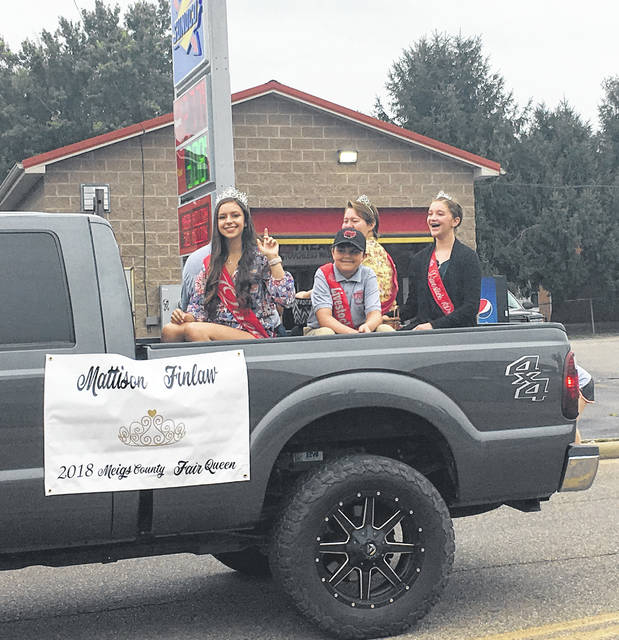 Meigs County Fair Royalty took part in the 10th annual Racine Party in the Park Parade Saturday morning.