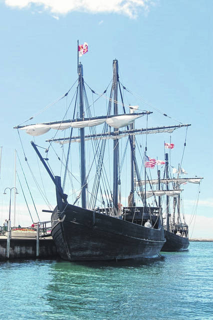 Recreations of Columbus' Nina and Pinta will be visiting Gallipolis.