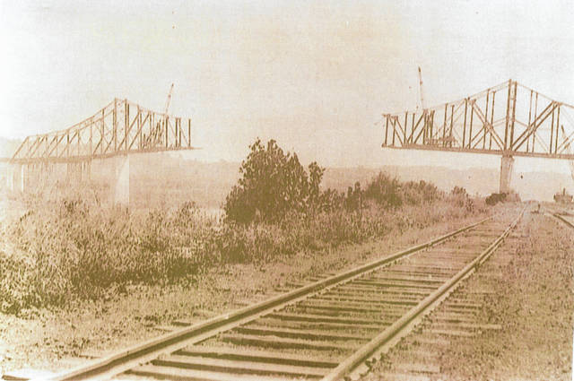 "The Pomeroy Bend Bridge, later known as the Pomeroy-Mason Bridge, was constructed in the late 1920s, serving the area for 80 years. For more on the history of the bridge which connected Pomeroy and Mason, see the ""As the old Ohio flows"" column by Jordan Pickens inside today's paper."