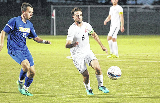 Rio Grande's Eduardo Zurita and the rest of the RedStorm remained No. 5 in the latest NAIA Men's Soccer Coaches' Top 25 poll released Tuesday.