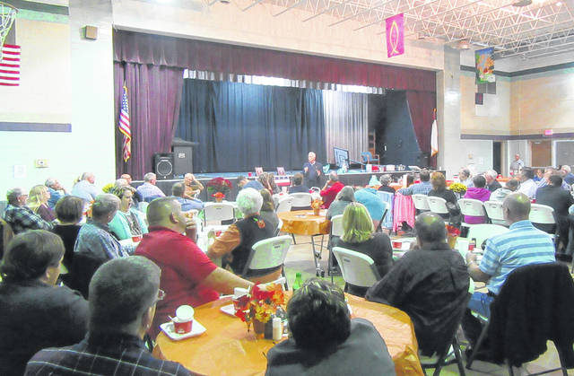 Numerous individuals attended the Republican Party Bean Dinner last week at the Mulberry Community Center.