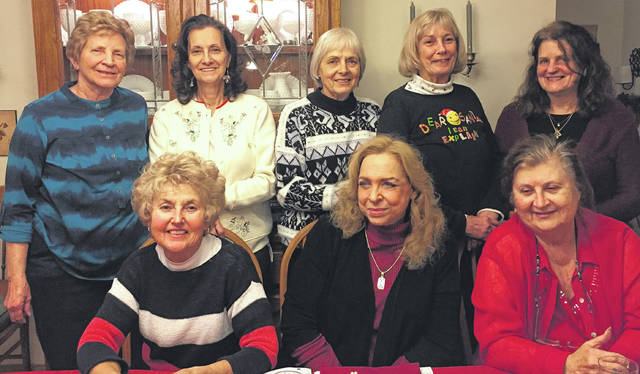 Wildwood Garden Club members include, (bottom left to right) Tunie Redovia, Josephine Hill, Shirley Hamm; (top left to right) Joy Bentley, Barbara Koker, Peggy Moore, Pattie Tarr, Lorna Hart; and (not pictured) Chris Chapman, Debbie Jones, Riona Nally, Kimberly Wolfe.