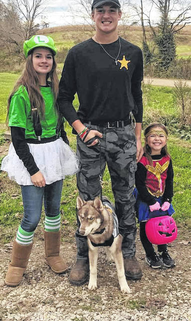 A group of Trick or Treaters in Syracuse.