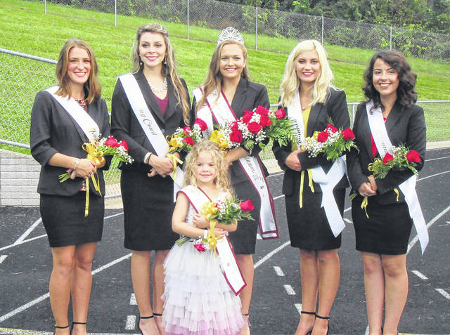 Taylor Swartz was crowned the 2018 Meigs High School Homecoming Queen during a pregame ceremony on Friday evening before the Marauders game against Athens. Swartz, escorted by Harley McDonald, was crowned by 2017 Queen Olivia Davis. Pictured above are members of the 2018 Meigs High School Homecoming Court, (front) Flower Girl Sophie Reynolds, (back, from left) Lydia Edwards, Kassidy Betzing, Taylor Swartz, Jenna Marshall and Hayley Lathey. Additional photos from the Homecoming events can be seen on Page 4 of today's edition and online at mydailysentinel.com.
