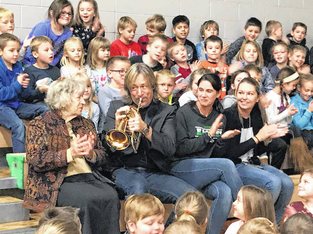 David Wells, a jazz musician, spoke with students last week about, bringing an anti-bullying message.