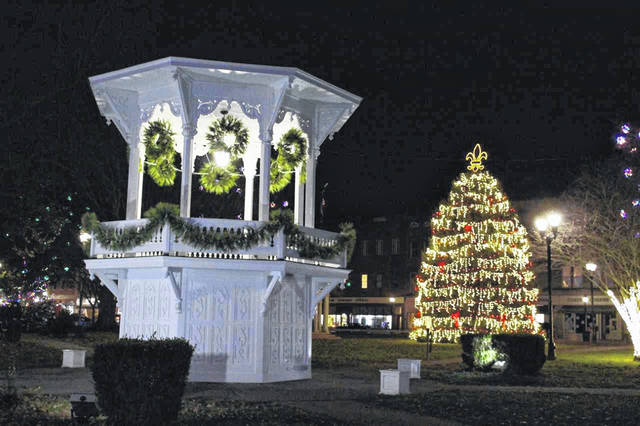 The newly refurbished bandstand, pictured, is the place to be Wednesday evening when the countdown to the 6th annual Gallipolis In Lights Park Lighting takes place.