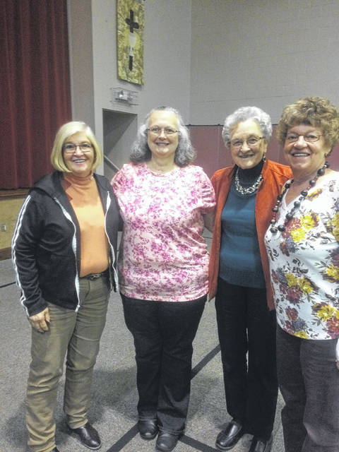 Pictured are rally attendees Pat Snedden, Mary Bush, Roberta Henderson and Cindy Hyde.