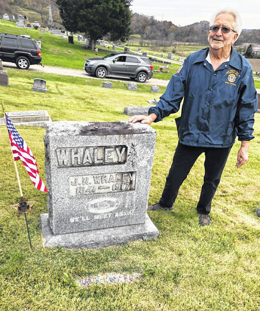 American Legion Post 39 recently placed a marker on the grave of veteran J.N. Whaley.