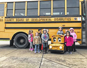 Buster the Bus recently visited Carleton School to help with teaching bus safety.