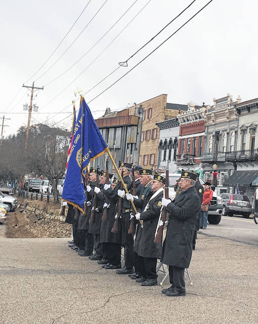 Members of the American Legion Post #39 after performing a 21-gun salute.