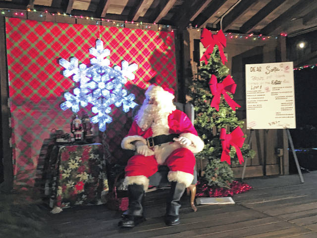 Santa was in attendance for the festivities in Racine on Saturday evening, listening to the Christmas wishes of many children.