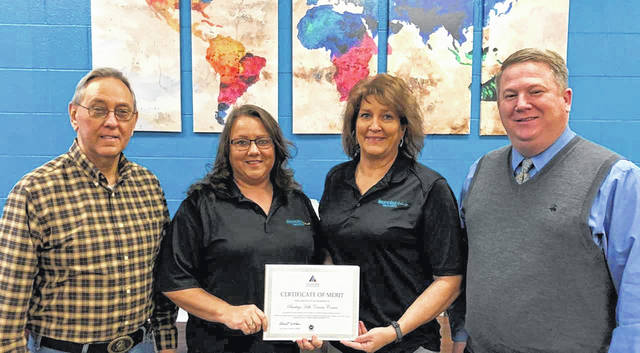Pictured from left, are James Oiler, instructor; Lori Hilderbrant, ST coordinator; Debbie Willis, instructor; Jamie Nash, superintendent.