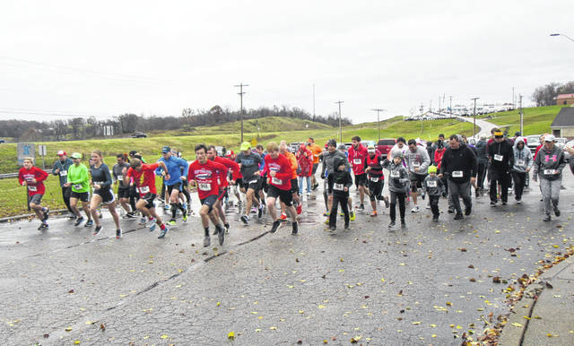 Runners braved the rain and the cooler temperatures to take part in the annual Keep Your Fork 5K.
