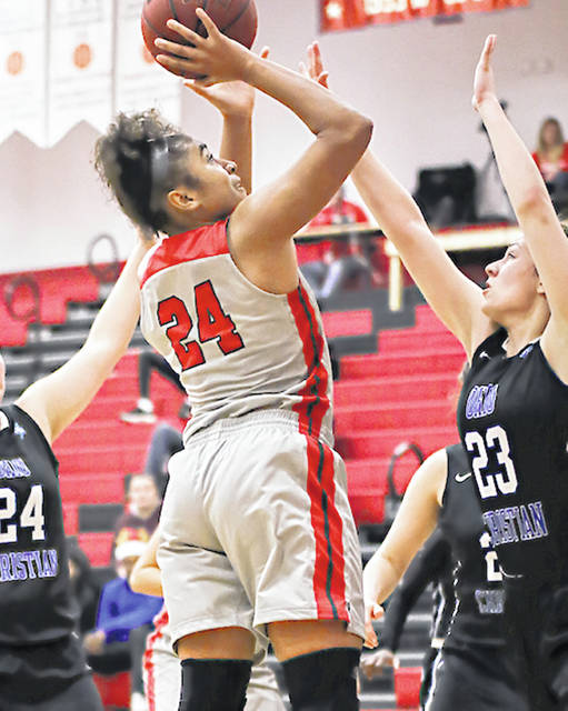 Rio Grande's Jaida Carter surpassed the 1,000-point mark for her career and was one of six players to reach double figures in the RedStorm's 102-75 rout of Ohio Christian on Saturday night at the Newt Oliver Arena.