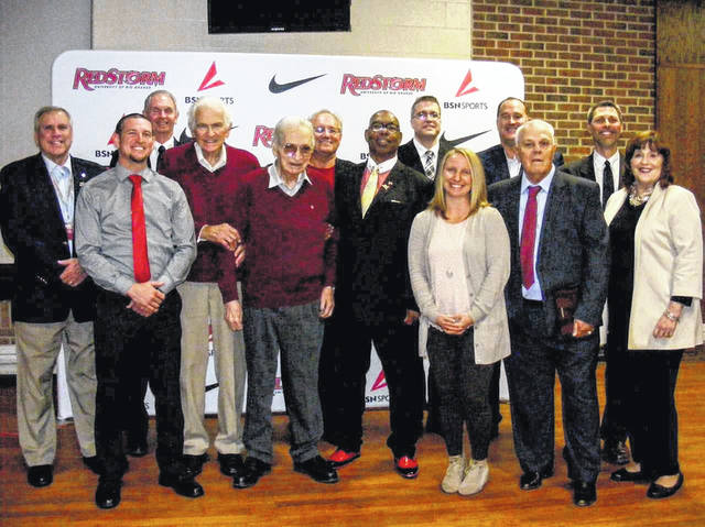 Athletic Hall of Fame Banquet, which honored this year's new inductees, Tyler Schunk, John Lawhorn, Jessica Ross Herron and a special award for the Hall of Fame founder, Howard Blanchard.