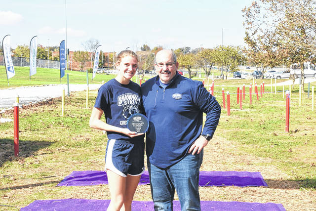 Jessica Cook was recently named Mid-South Conference Freshman of the Year for cross country.