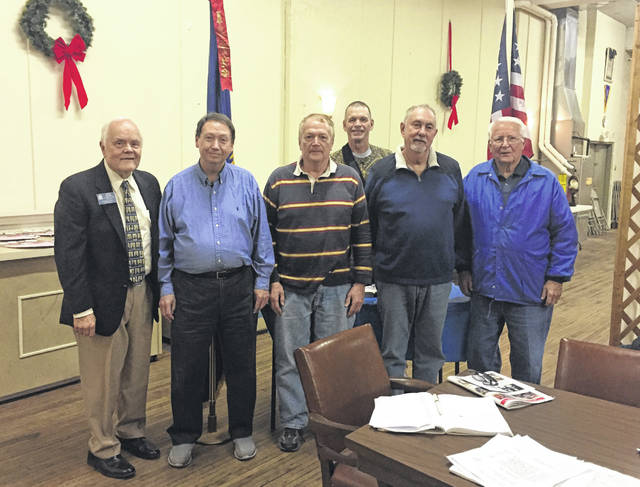 Brooks-Grant Camp No. 7 Sons of Union Veterans of the Civil War officers were recently installed for 2019. Pictured, from left to right, are Ohio Department Chief of Staff Dennis Brown, Commander Tom Galloway, Chaplain and Patriotic Instructor Greg Michael, Secretary-Treasurer Alan Holter, Junior Vice Commander Keith Whaley and Senior Vice Commander Dale Colburn.