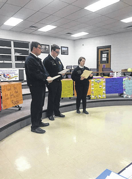 Southern FFA Officers made a presentation at Monday's board meeting.