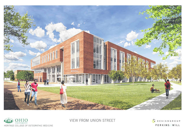 The new medical education facility to be built in Athens.